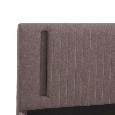vidaXL Bedframe met LED stof taupe 180x200 cm