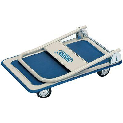 Draper Tools Platformwagen inklapbaar handvat 63x48x85 cm blauw en wit