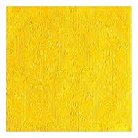 Luxe servetten barok patroon geel 3-laags 15 stuks