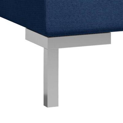 vidaXL 6-delig Bankstel stof blauw