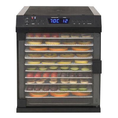 vidaXL Voedseldroger met 11 lades 480 W roestvrij staal zwart