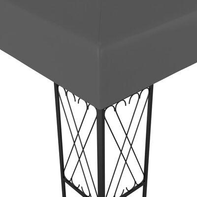 vidaXL Prieel 3x3 m stof antraciet