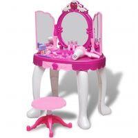 vidaXL Speelgoedkaptafel staand met 3 spiegels en licht/geluid