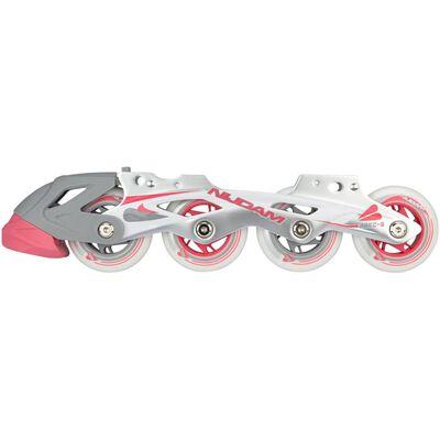 Nijdam schaats/skate-combinatie junior wit/roze maat 33-36