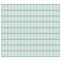 vidaXL Dubbelstaafmatten 2,008x1,83 m 30 m (totale lengte) groen