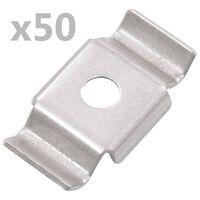 vidaXL Bouwhekklem 50 st roestvrij staal