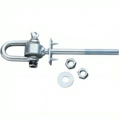schommelhaak met harpsluiting M12 x 135 mm verzinkt zilver,