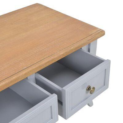 vidaXL Tv-meubel 100x35x35 cm hout grijs
