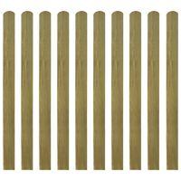 vidaXL 30 st Heklatten 120 cm geïmpregneerd hout