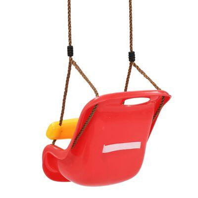 vidaXL Babyschommel met veiligheidsgordel PP rood