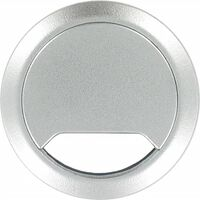 2x Kabeldoorvoer aluminium zilver 60 mm - Elektra kabeldoorvoeren