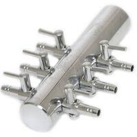 verdeelkraan vijverbeluchting VT 4/6 mm staal zilver