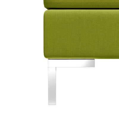 vidaXL Hoekbank sectioneel met kussen stof groen