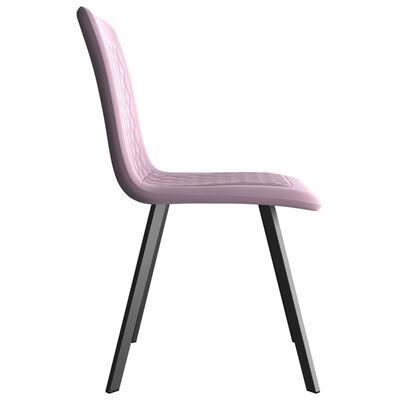 vidaXL Eetkamerstoelen 2 st fluweel roze