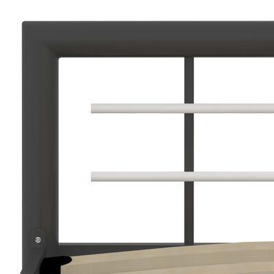 vidaXL Bedframe metaal grijs en wit 90x200 cm