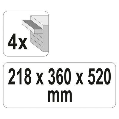 YATO Gereedschapskist met 4 lades 52x21,8x36 cm