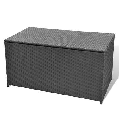 vidaXL Tuinbox 120x50x60 cm poly rattan zwart