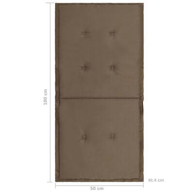 vidaXL Tuinstoelkussens 4 st 100x50x3 cm taupe