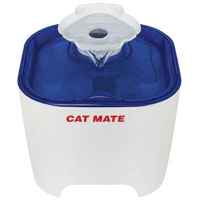 Kerbl Huisdierenfontein Cat Mate 19x19x14,5 cm wit en blauw
