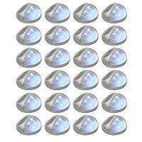 vidaXL Solarwandlampen LED 24 st rond zilverkleurig