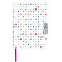 Moses dagboek met slotje Dots 21 cm wit