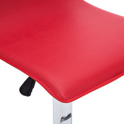vidaXL Barkrukken 2 st kunstleer rood