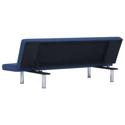vidaXL Slaapbank polyester blauw