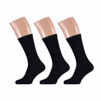 Grote maten sokken zwart maat 47/50 set 3 paar