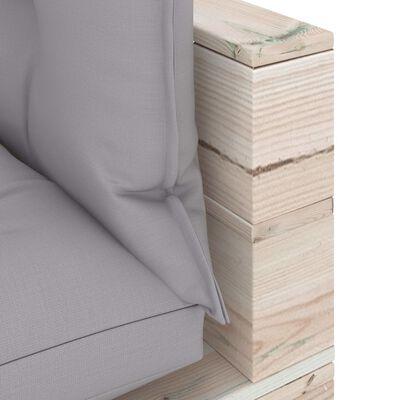 vidaXL 9-delige Loungeset met kussens pallet grenenhout