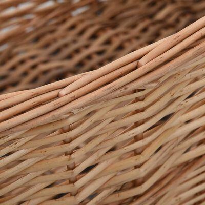 vidaXL Houtmand met handvatten 88x57x34 cm natuurlijk wilgenhout