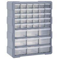 vidaXL Organiser met 39 lades 38x16x47 cm
