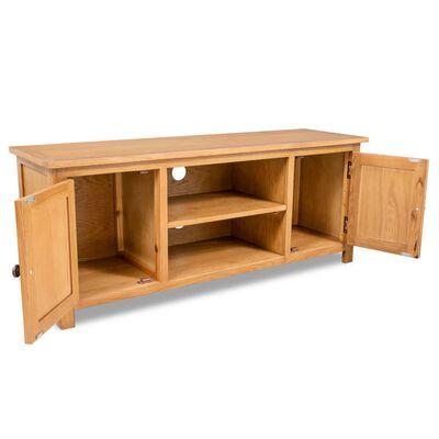 vidaXL Tv-meubel 120x35x48 cm massief eikenhout