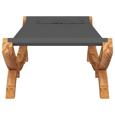 vidaXL Hangmat 100x188,5x44 cm massief vurenhout antracietkleurig