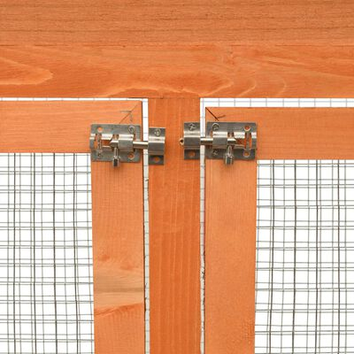 vidaXL Vogelkooi 120x60x168 cm massief grenen- en vurenhout