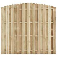 vidaXL Schuttingpaneel 180x(155-170) cm geïmpregneerd grenenhout