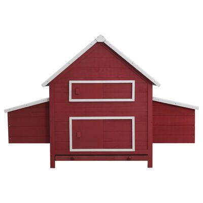 vidaXL Kippenhok 157x97x110 cm hout rood