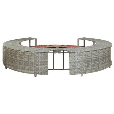 vidaXL Spa-ombouw poly rattan grijs