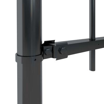 vidaXL Tuinhek met ronde bovenkant 8,5x1,5 m staal zwart