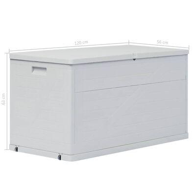 vidaXL Tuinbox 420 L lichtgrijs