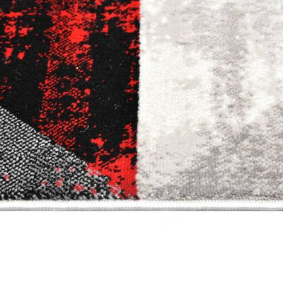 vidaXL Vloerkleed 140x200 cm PP zwart en rood