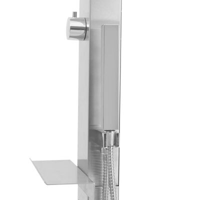 vidaXL Buitendouche recht roestvrij staal