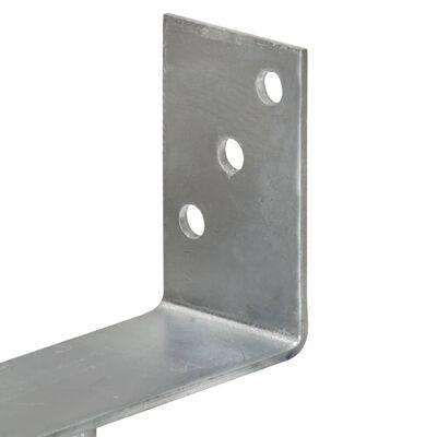 vidaXL Grondankers 2 st 9x6x30 cm gegalvaniseerd staal zilverkleurig