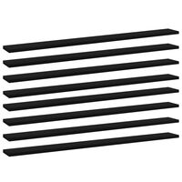 vidaXL Wandschappen 8 st 100x10x1,5 cm spaanplaat zwart