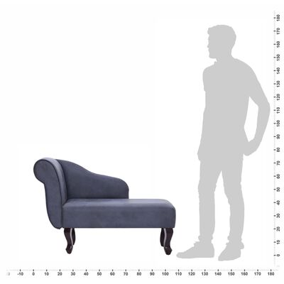 vidaXL Chaise longue kunstsuède grijs