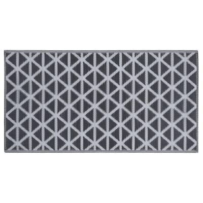 vidaXL Buitenkleed 160x230 cm PP zwart