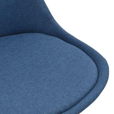 vidaXL Eetkamerstoelen 6 st stof blauw