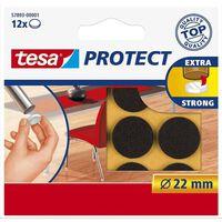 48x Tesa meubelvilt rond bruin 2,2 cm - Klusbenodigdheden -