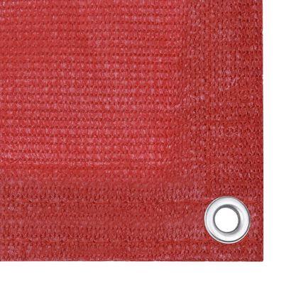 vidaXL Balkonscherm 120x300 cm HDPE rood