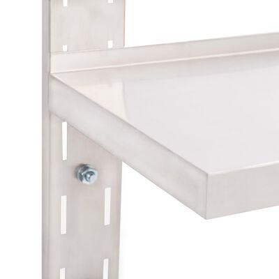 vidaXL Zwevend schap 2-laags 120x30 cm roestvrij staal
