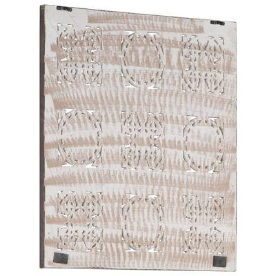 vidaXL Wandpaneel handgesneden 60x60x1,5 cm MDF bruin en wit